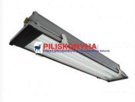 Fémházas lámpatest elszívó ernyőbe, 2×36 W