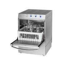 Pohármosogató gép 40×40 mosószer adagolóval és ürítő szivattyúval