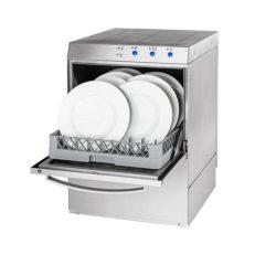 Tányérmosogató gép 400V/230V mosószer adagolóval és ürítő szivattyúval