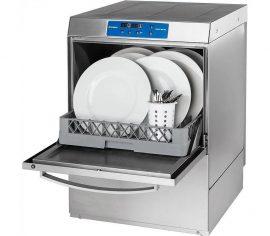 Digitális tányérmosogató gép mosószer adagolóval, ürítő szivattyúval és nyomásfokozóval