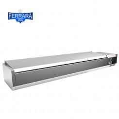 Feltéthűtő 9xGN1/3,rozsdamentes tetővel, 200 cm