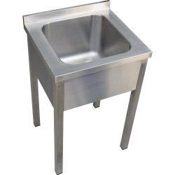 Egymedencés mosogató , 500x600x300 medence