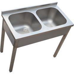 Kétmedencés mosogató, 500x600x300 medence
