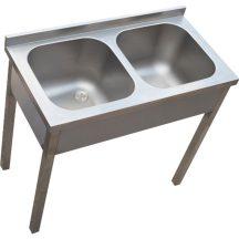 Kétmedencés mosogató, 700×700×300 medence