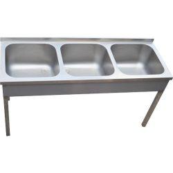 Három medencés mosogató, 700×700×300 medence