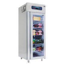 VN10-G - Rozsdamentes üvegajtós hűtővitrin