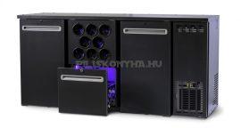 TC BBCL3-212 | Bárhűtő 2 ajtóval, 1 db 1/2-es fiókkal, palacktartóval